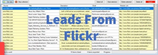 Leads From Flickr