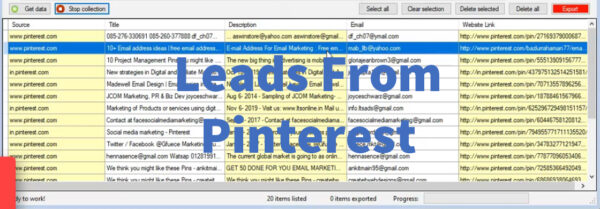 Leads From Pinterest