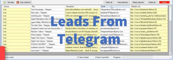 Leads From Telegram