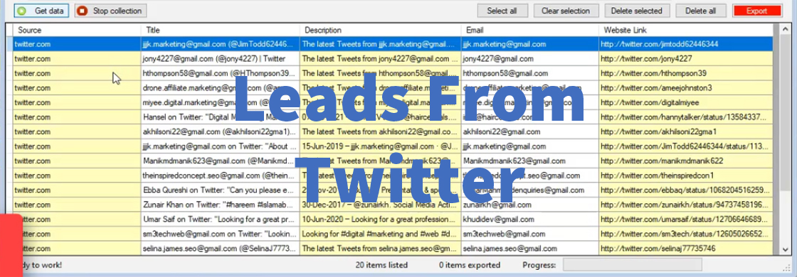 Leads From Twitter