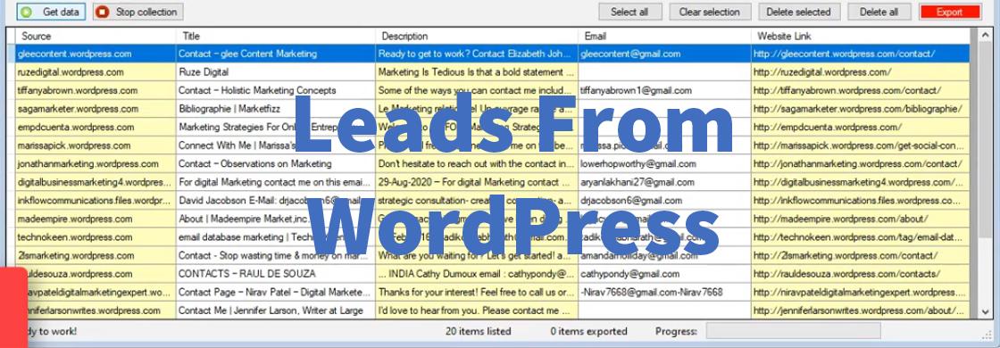 Leads From WordPress