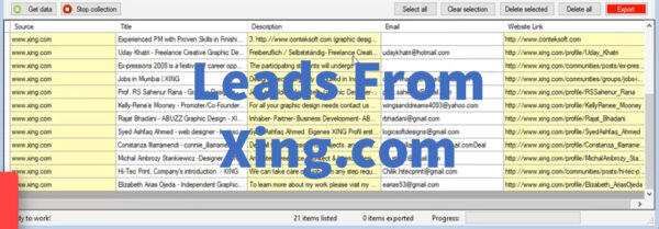Leads From Xing