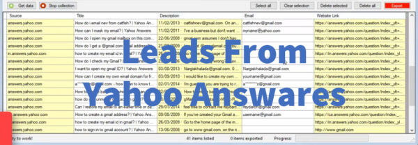 Leads From Yahoo Answares