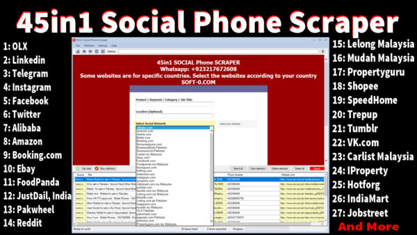 14in1 social email extractor