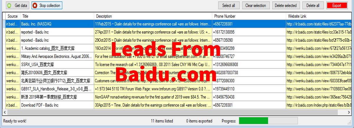 Leads From Baidu-com