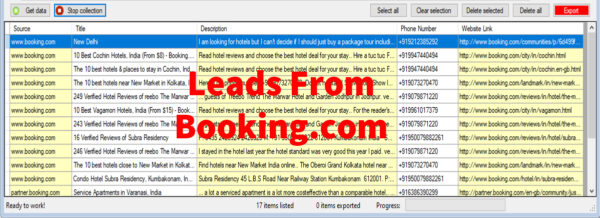 Leads From Booking-com