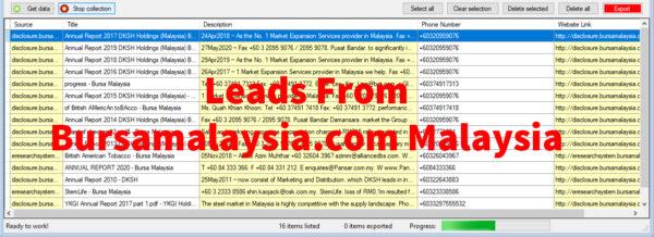 Leads From Bursamalaysia-com Malaysia