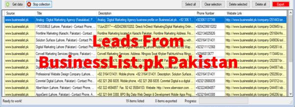 Leads From BusinessList-pk Pakistan