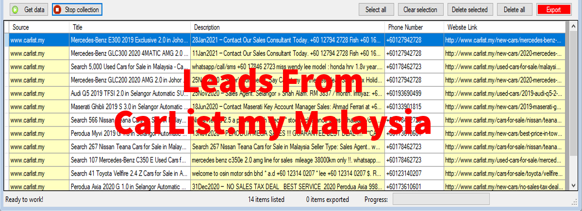 Leads From Carlist-my Malaysia