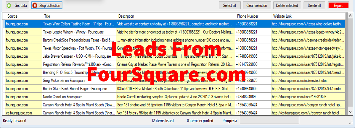 Leads From Foursquare-com