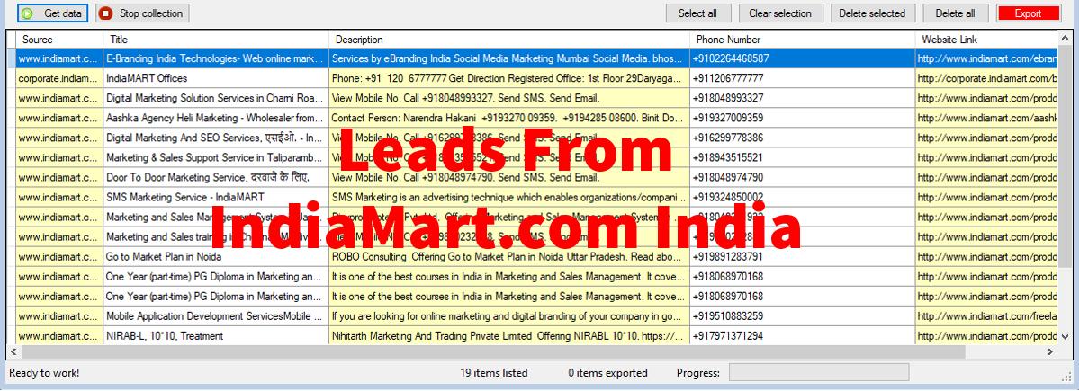 Extract Data From Indiamart