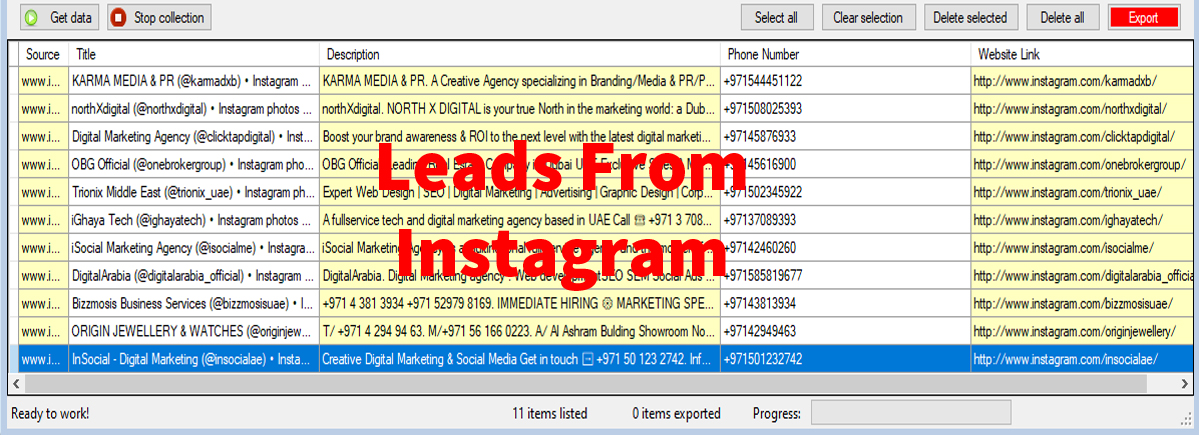 Leads From Instagram-com