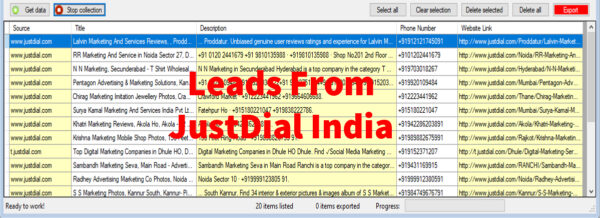 Leads From JustDial India