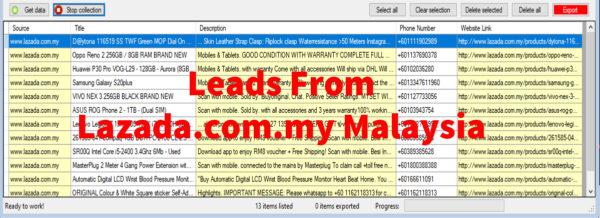 Leads From Lazada-com-my Malaysia