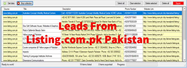 Leads From Listing-com-pk Pakistan
