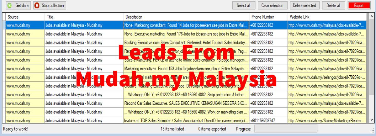 Leads From Mudah-com Malaysia