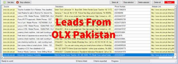 Leads From OLX Pakistan